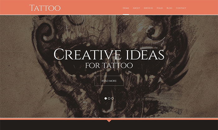 Tattoo Salon Responsive WordPress Theme