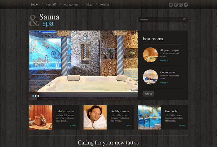 Sauna Responsive WordPress Theme