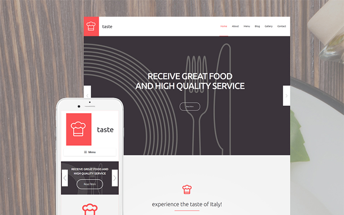 Catering WP Template