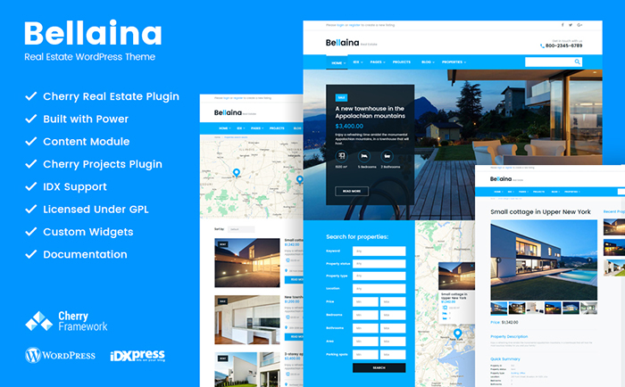 Bellaina - Real Estate Responsive WordPress theme
