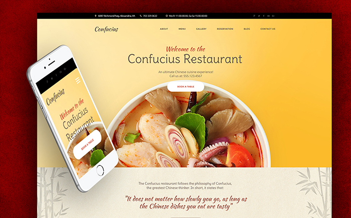 Chinese Restaurant Responsive WordPress Theme