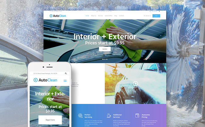 Car Wash WP Theme